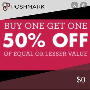 But one get one 50% off